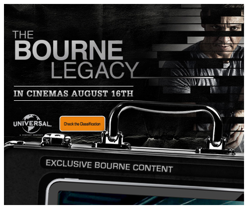 THE BOURNE LEGACY.